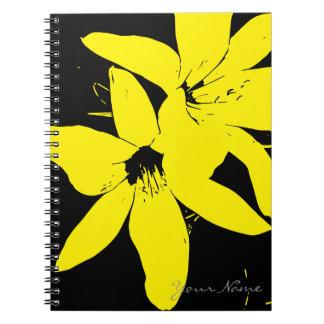Carnet Fleurs jaunes de Lilly