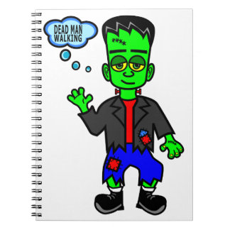 Carnet Garçon du monstre de Frankenstein de bande