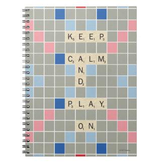 Carnet Gardez le calme et le jeu dessus