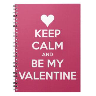 Carnet Gardez le calme et soyez ma baie de Valentine