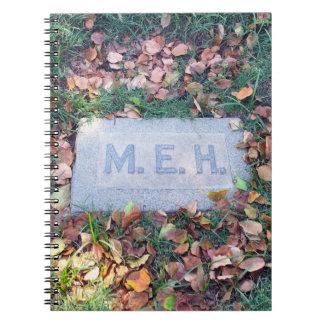 Carnet Geek morbide de cimetière d'humour de pierre