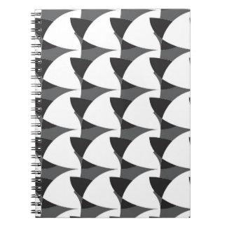 Carnet géométrique noir