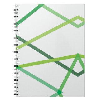 Carnet géométrique vert