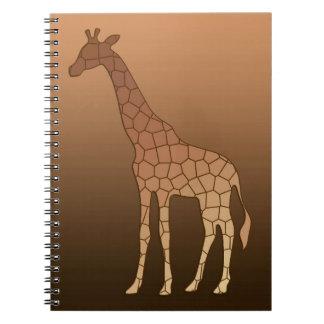 Carnet Girafe, cuivre et Brown géométriques modernes