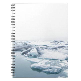 Carnet Glaciers de l'Islande - blanc