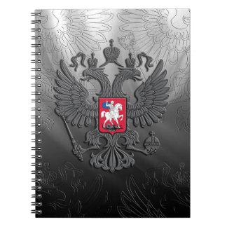 Carnet Gris russe de drapeau de symbole