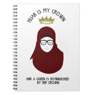 Carnet Hijab est ma couronne - bureau - des VERRES