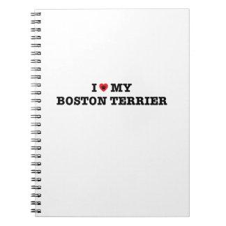 Carnet I coeur mon Boston Terrier