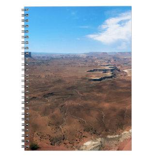 Carnet Île en parc national Utah de Canyonlands de ciel