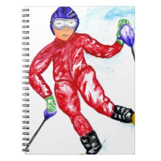Carnet Illustration de sport de skieur