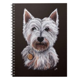 Carnet Illustration en pastel d'animal familier de chien