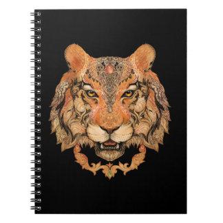 Carnet indien de tatouage de tigre