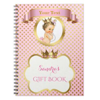Carnet Invitée royale de princesse Pink Gold Crown Gift