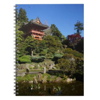 Carnet japonais de porte de temple de jardin de