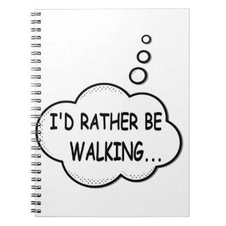 Carnet Je marcherais plutôt