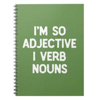 Carnet Jeu de mots drôle nerd d'humour d'anglais de mot