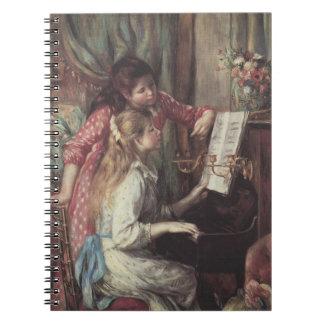Carnet Jeunes filles au piano par Pierre Renoir