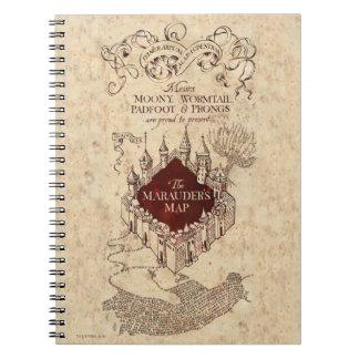 Carnet La carte du maraudeur du charme | de Harry Potter