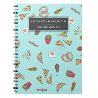 Carnet La pizza d'illustrations d'aquarelle de fin