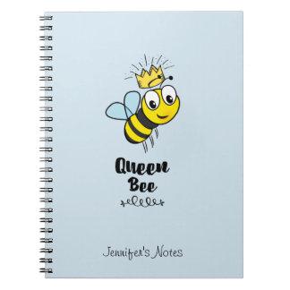 Carnet La reine des abeilles mignonne gaffent l'abeille