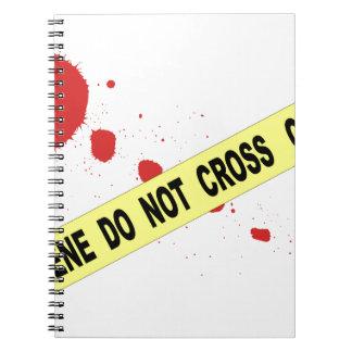 Carnet La scène du crime ne croisent pas