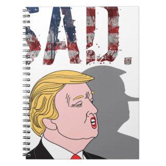 Carnet L'anti Président triste sarcastique drôle Donald