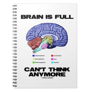 Carnet Le cerveau est plein ne peut penser plus