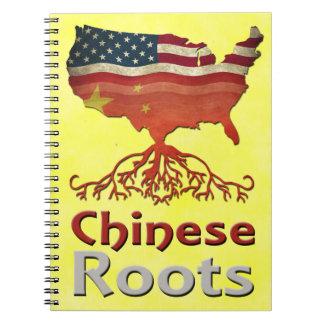 Carnet Le Chinois américain enracine le bloc - notes