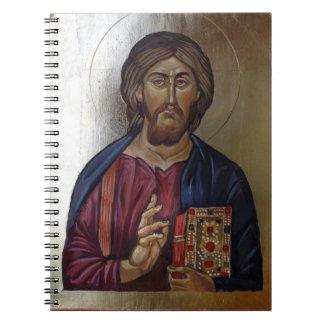 Carnet Le Christ Pantocrator - icône bizantine de style
