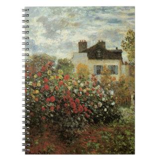 Carnet Le jardin de Monet à Argenteuil par Claude Monet