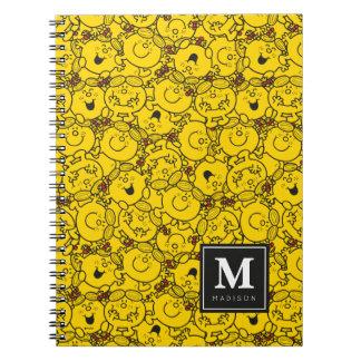 Carnet Le motif | de sourires de jaune d'amusement
