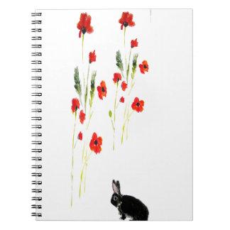 Carnet Le pavot fleurit le lapin