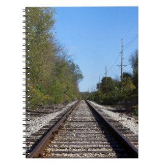 Carnet Le train de chemin de fer dépiste la photo