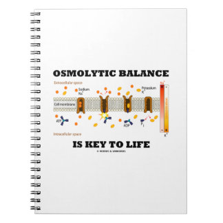 Carnet L'équilibre d'Osmolytic est principal à la vie (la