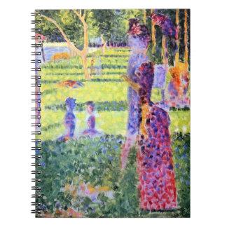 Carnet Les couples par Georges Seurat, Pointillism