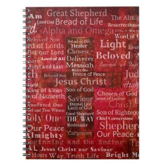 Carnet Les noms du Jésus-Christ de la bible