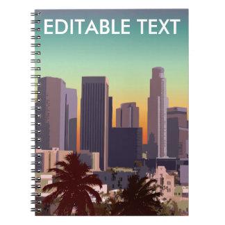 Carnet Los Angeles du centre - image personnalisable
