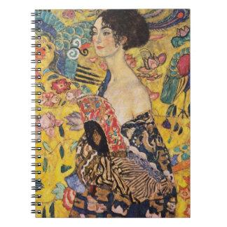 Carnet Madame de Klimt avec des beaux-arts de fan