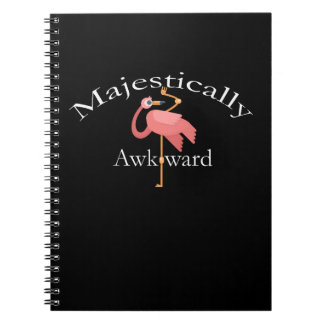 Carnet Majestueux maladroit Introverts le flamant rose