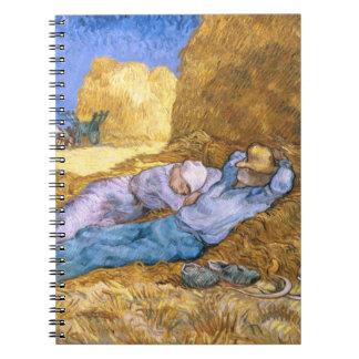Carnet Midi de Vincent van Gogh  , la sièste, après