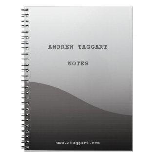 Carnet minimaliste avec la conception grise simple