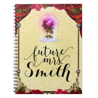 Carnet Mme d'avenir enchantée par jaune de rose rouge de