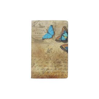 Carnet Moleskine De Poche Écriture vintage et papillons