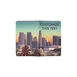 Carnet Moleskine De Poche Los Angeles du centre - illustration faite sur