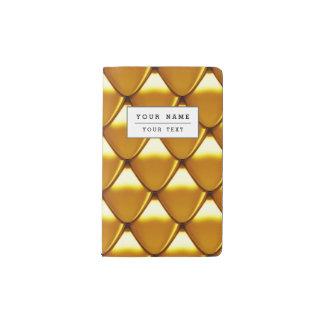 Carnet Moleskine De Poche Motif élégant d'échelle d'or
