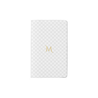 Carnet Moleskine De Poche Motif personnalisé de contrôle de monogramme d'or