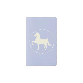 Carnet Moleskine De Poche Silhouette de cheval de Saddlebred d'Américain