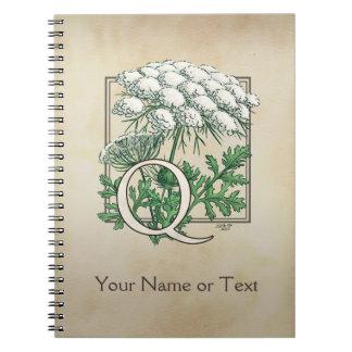 Carnet Monogramme de dentelle de la Reine Anne