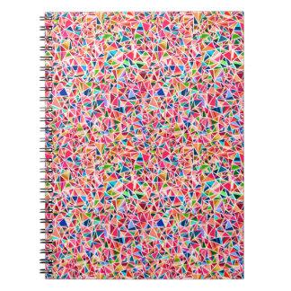 Carnet Mosaïque abstraite colorée mignonne gaie adorable