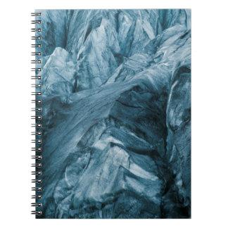 Carnet Motif abstrait en glacier | Islande